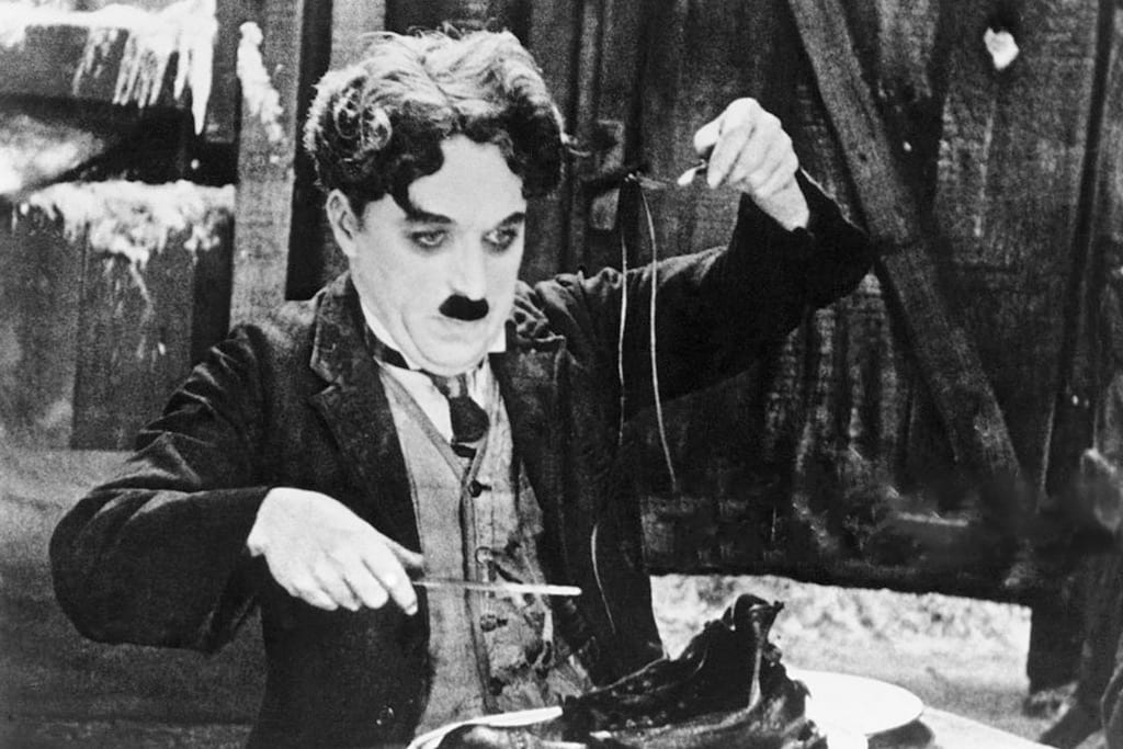 Charlie Chaplin and the licorice shoelace