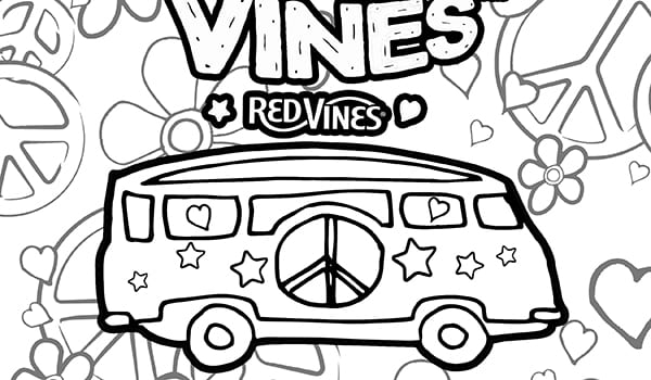 Red Vines Coloring Page 3
