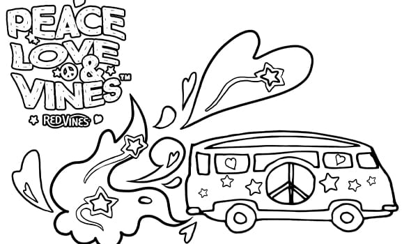 Red Vines Coloring Page 5