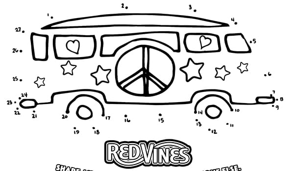 Red Vines Coloring Page 6